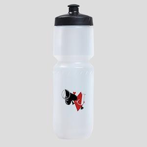 Spade and Diamond Sports Bottle