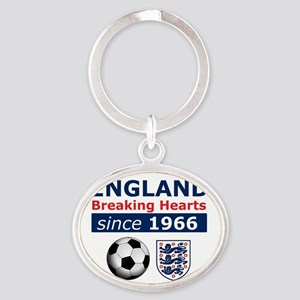 England.  Breaking Hearts since 1966 Oval Keychain