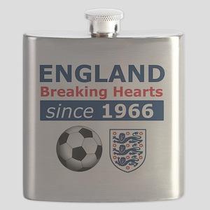 England.  Breaking Hearts since 1966 Flask