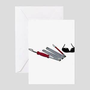 FoldedCaneBlindGlasses051211 Greeting Cards