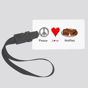Peace Love Waffles Large Luggage Tag
