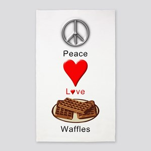 Peace Love Waffles 3'x5' Area Rug