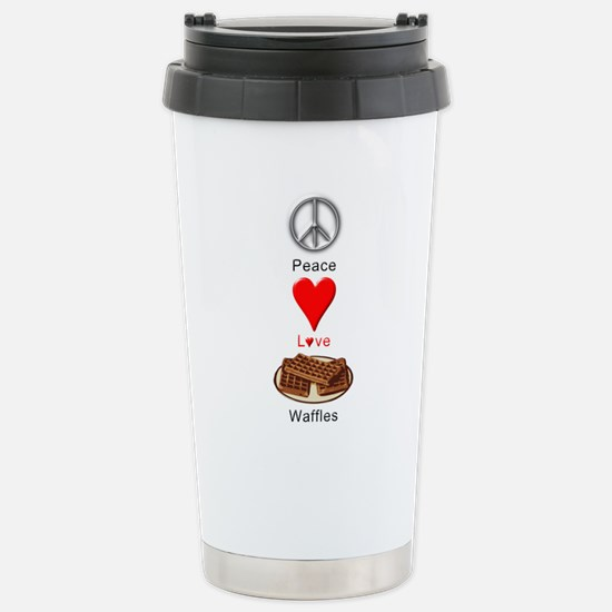 Peace Love Waffles Stainless Steel Travel Mug