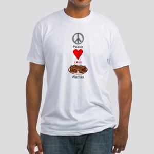 Peace Love Waffles Fitted T-Shirt