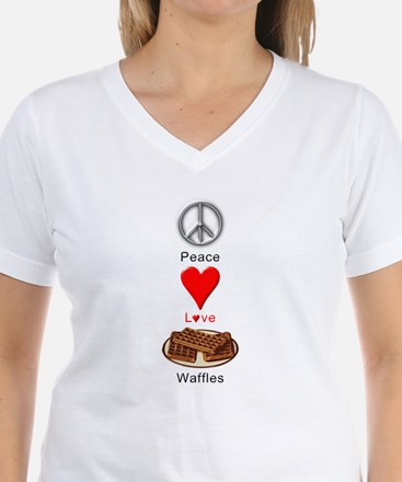 Peace Love Waffles Shirt