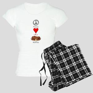 Peace Love Waffles Women's Light Pajamas
