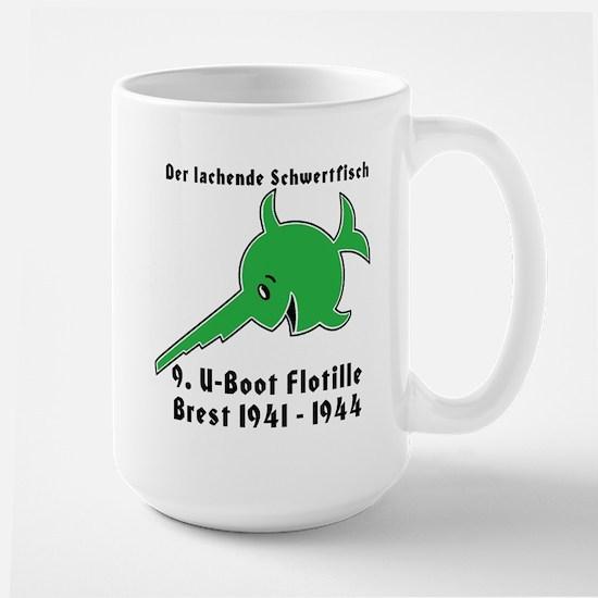 9th Flotilla U-Boat WWII Large Mug w/text
