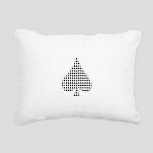 Spade Suit Rectangular Canvas Pillow