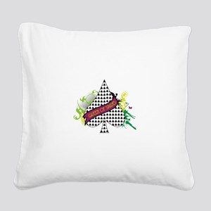 QUEEN OF SPADES Square Canvas Pillow