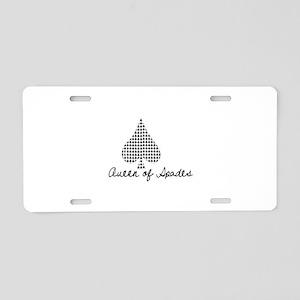 Queen of spades Aluminum License Plate