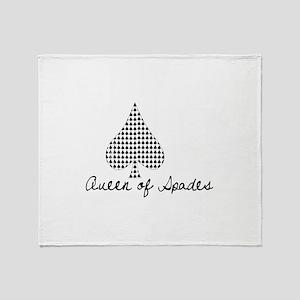 Queen of spades Throw Blanket