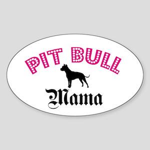 Pit Mama Oval Sticker