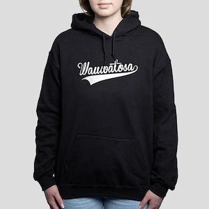 Wauwatosa, Retro, Women's Hooded Sweatshirt