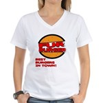 Fur Burger Women's V-Neck T-Shirt
