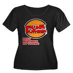 Fur Burger Women's Plus Size Scoop Neck Dark T-Shi
