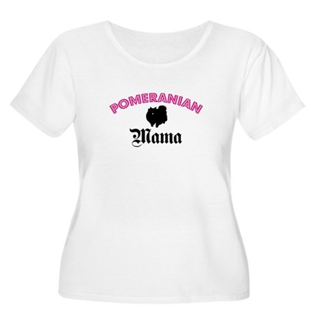 Pom Mama Women's Plus Size Scoop Neck T-Shirt