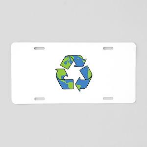 Recycle Symbol Aluminum License Plate