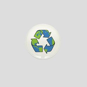 Recycle Symbol Mini Button
