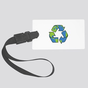 Recycle Symbol Luggage Tag