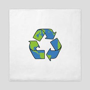 Recycle Symbol Queen Duvet