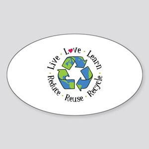 Live.Love.Learn.Recycle.Reuse.Reduce Sticker