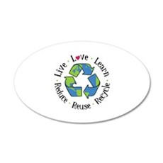 Live.Love.Learn.Recycle.Reuse.Reduce Wall Decal