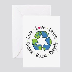 Live.Love.Learn.Recycle.Reuse.Reduce Greeting Card