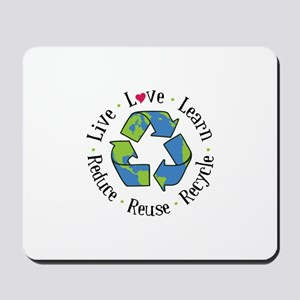 Recycle.Reuse.Reduce Mousepad