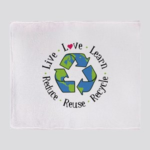 Live.Love.Learn.Recycle.Reuse.Reduce Throw Blanket