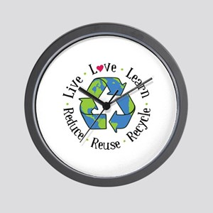 Live.Love.Learn.Recycle.Reuse.Reduce Wall Clock