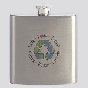 Live.Love.Learn.Recycle.Reuse.Reduce Flask