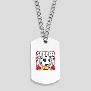 Spain Soccer Dog Tags