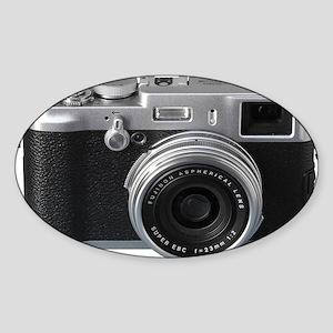 Vintage Camera Sticker (Oval)