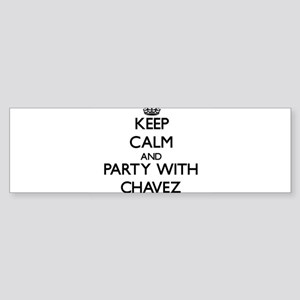 Keep calm and Party with Chavez Bumper Sticker