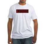 Rated E for evil Fitted T-Shirt