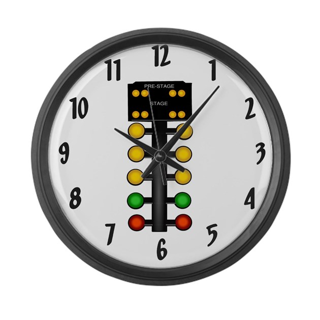 Drag racing christmas tree large wall clock by dragracinggifts