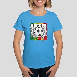 Soccer Portugal Women's Dark T-Shirt