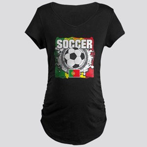 Soccer Portugal Maternity Dark T-Shirt