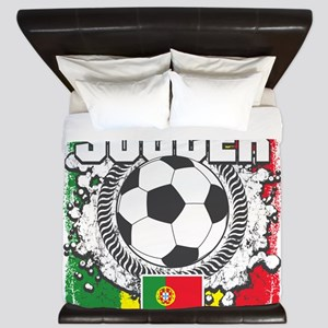 Soccer Portugal King Duvet