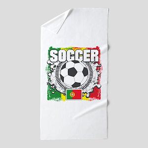 Soccer Portugal Beach Towel