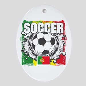 Soccer Portugal Ornament (Oval)
