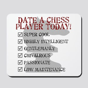 Chess : Date A Chess Player Mousepad
