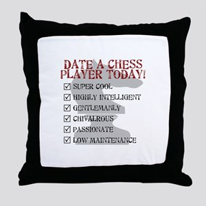 Chess : Date A Chess Player Throw Pillow