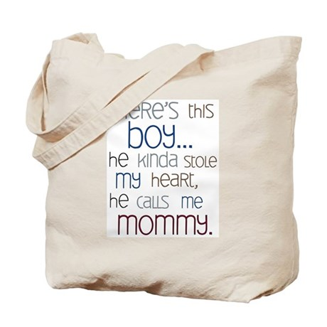 Baby Boy Quote for Mom Tote Bag