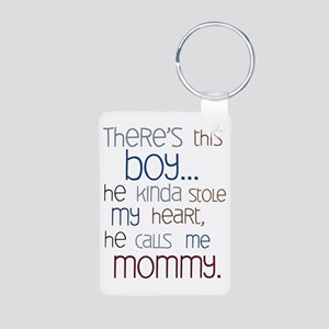 Baby Boy Quote for Mom Aluminum Photo Keychain