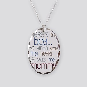 Baby Boy Quote for Mom Necklace Oval Charm