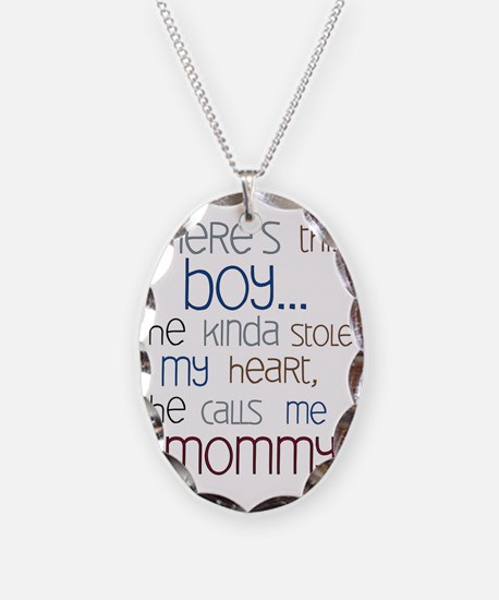 Baby Boy Quote for Mom Necklace