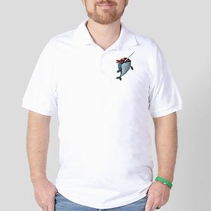Pirate Narwhals Golf Shirt
