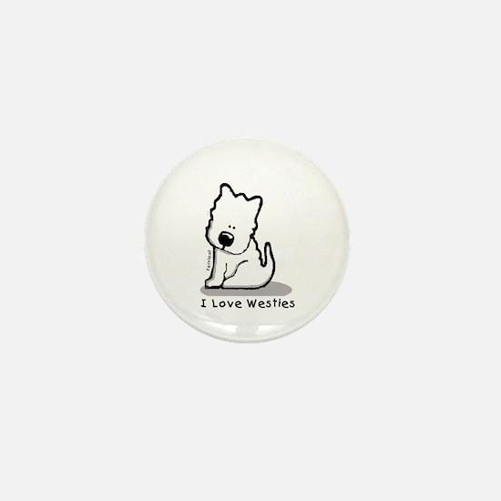 I Love Westies! Mini Button
