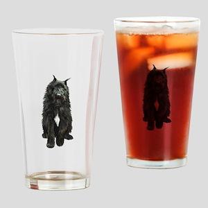 Bouvier (black) Drinking Glass